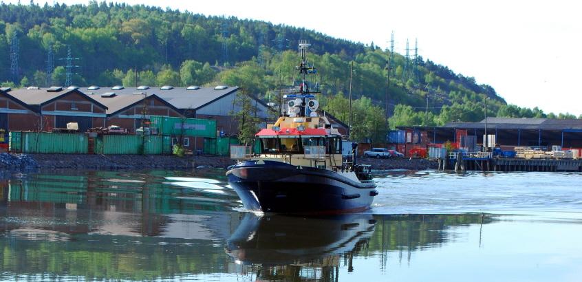 Fotad under inspektionsresa på Göta älv, 2011