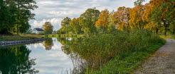 Göta kanal i höstfärger