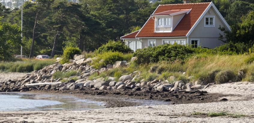 Erosion vid Skånes kust. Löderup 2012.