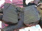 Hand som håller i prov av lera från Göta älv