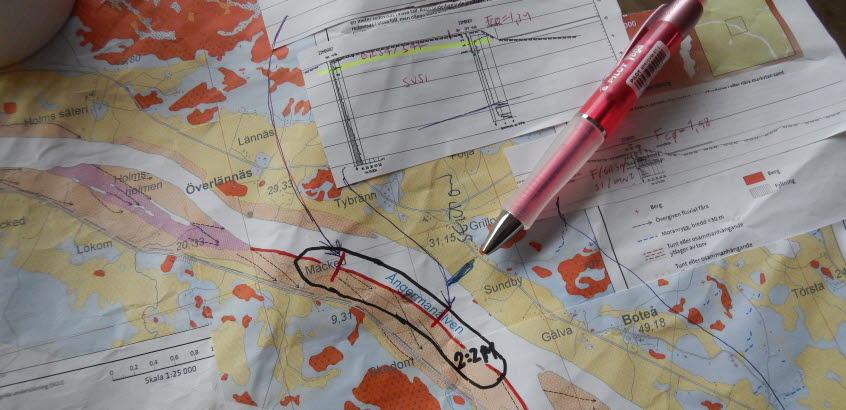 Förberedelser kartering i Ångermanälven