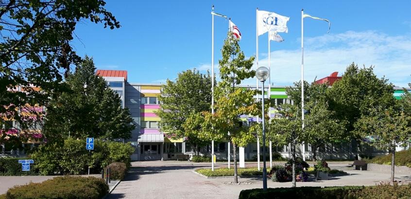Entrén vid Statens geotekniska institut.
