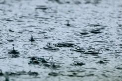vatten, regndroppar