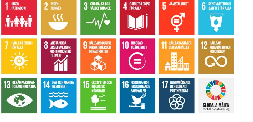 Logotyp för de globala målen för hållbar utveckling.