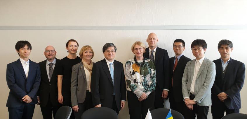 SGI staff at a meeting in Japan