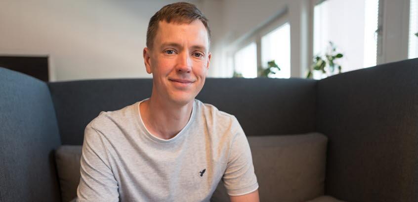 Forskare Mattias Andersson på Statens geotekniska institut. (SGI).